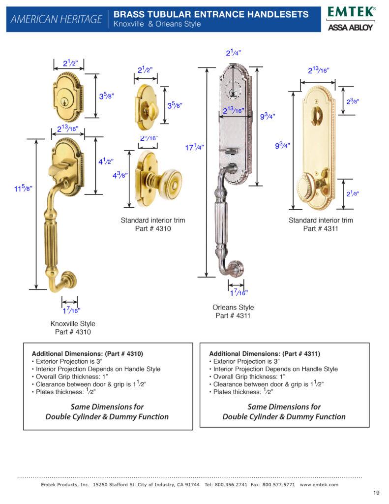 Emtek Orleans Tubular Entry Set
