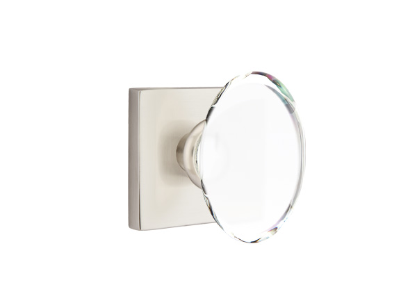 Hampton Crystal Knob Modern Square Polished Chrome 5107US26