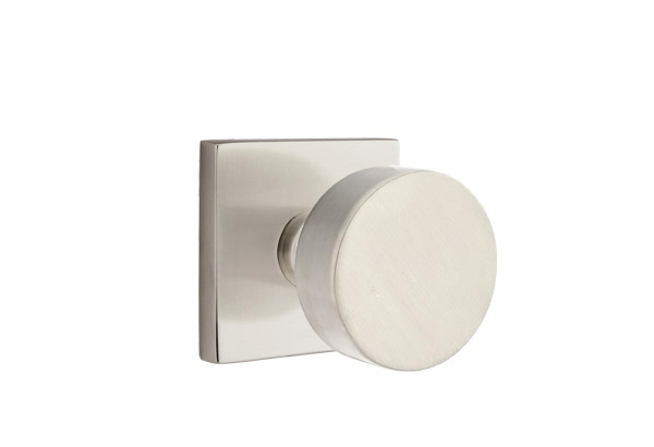 Emtek Round Knob Square Rose Satin Nickel