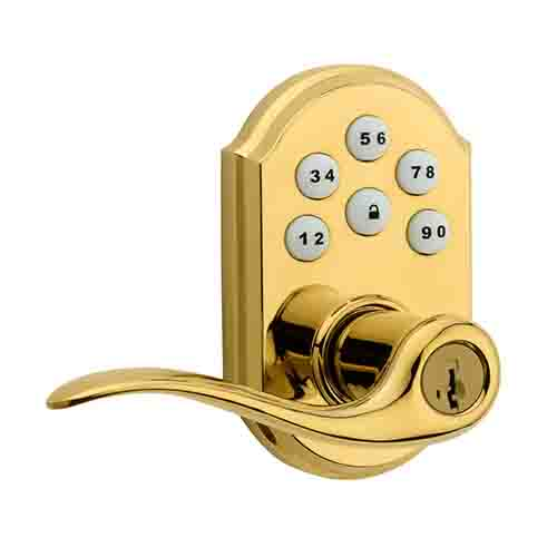smartcode-5-lever-electronic-lock-featuring-smartkey-in-polished-brass