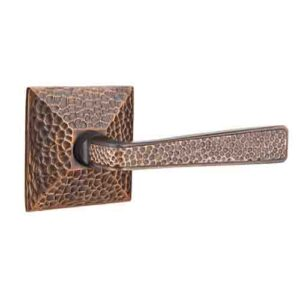 Emtek Hammered Door Lever Brass