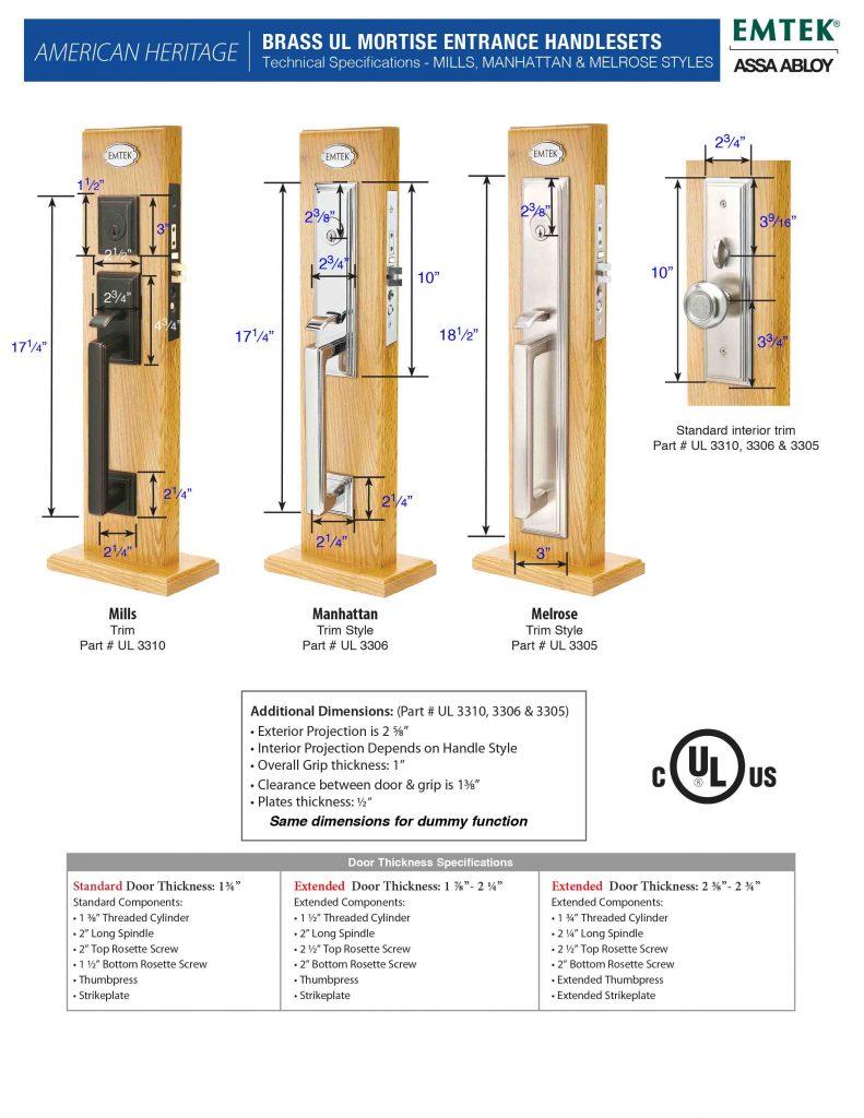 Emtek Melrose Mortise Lock Entry Set Canada Door Supply