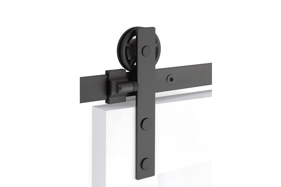 Emtek Modern Rectangular Face Barn Door Hardware