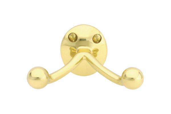 Emtek Brass Double Hook Traditional Bath Hook