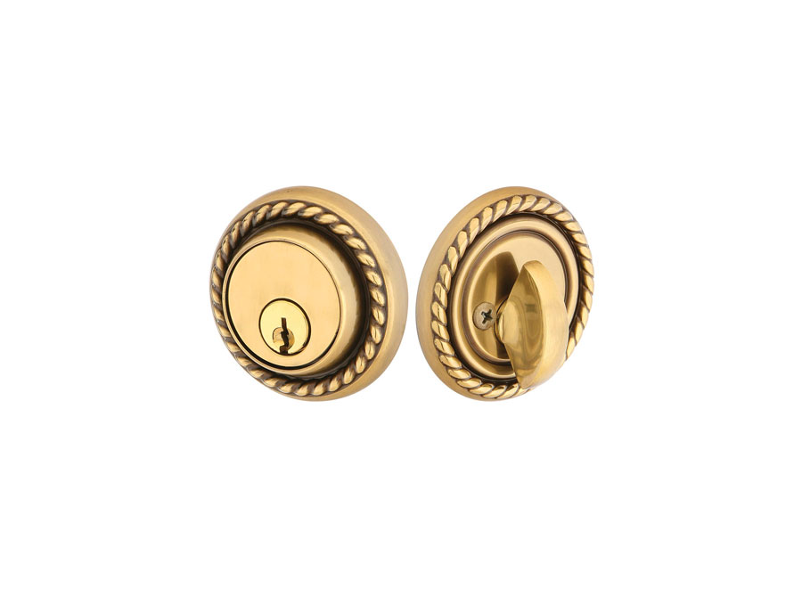Emtek Rope Deadbolt Brass