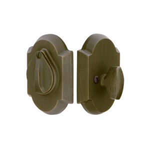 #1 Sandcast Bronze Deadbolt With Flap| Emtek