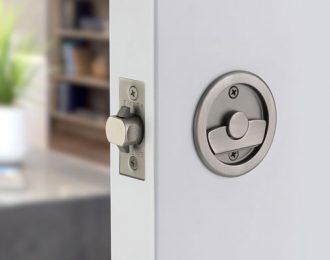 Emtek Round Pocket Door Tubular Lock 2 1/2″