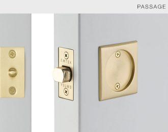 Emtek Square Pocket Door Lock 2 1/2″ x 2 1/2″