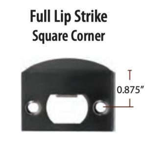 Emtek Full Lip Strike Square Corner