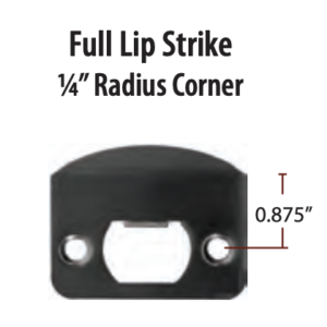 Emtek Full Lip Strike Plate Radius Corner