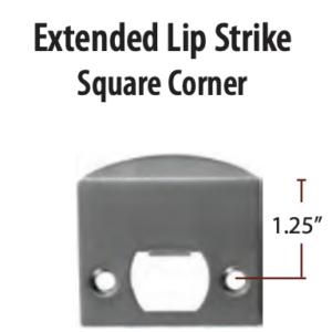 Emtek Extended Lip Strike Plate