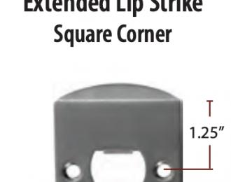 Emtek Extended Lip Strike Plate Square Corner