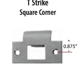 Emtek T Strike Plate Square Corner