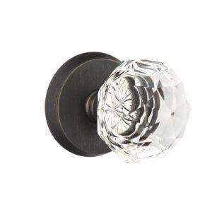 Emtek Diamond Crystal Knob Sandcast Bronze