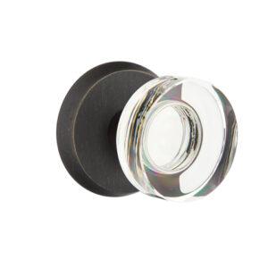 Emtek Modern Disc Knob Crystal Sandcast Bronze