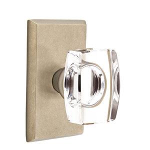 Emtek Crystal Windsor Knob Sandcast Bronze