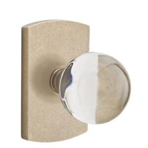 Emtek Bristol Crystal Knob Sandcast Bronze