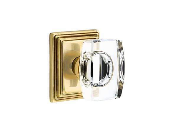 Emtek Windsor Knob Crystal Solid Brass