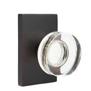 Emtek Modern Disc Knob Crystal Brass