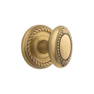 Emtek Beaded Egg Knob Designer Brass