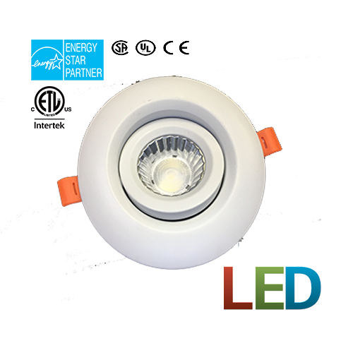 "LED Pivot Lights 4"" Dimmable POT Lights"