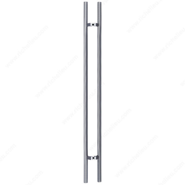 96″ Ladder Pull Offset Brushed Stainless